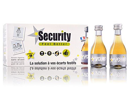 SECURITY Feelbetter, boisson bienfaitrice des écarts festifs. Carton de 10 flacons de 30ml.
