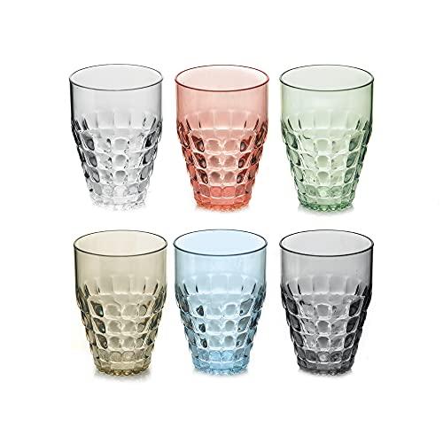 Guzzini GZ22570352 Tiffany Set 6 Bicchieri Alti Colori Assortiti