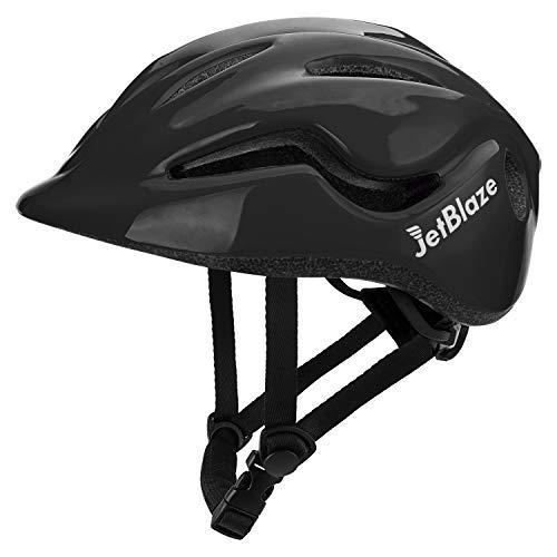 JetBlaze Child Helmet, Kids' Bike Helmet (for Age 3-5, Black)