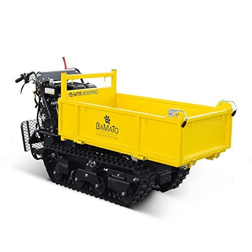 BAMATO Mini Raupendumper/MTR-800PRO / Zuladung: bis 800 kg, kraftvoller Motor: 8,2 kW, 6 Vorwärts- und 2 Rückwärtsgänge