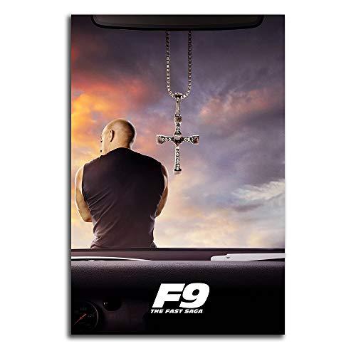 Trelemek Fast & Furious 9(F9) Decorazione da parete per ufficio, 40,6 x 61 cm, video film Vin_Diesel 2021, stampa artistica da parete, senza cornice/incorniciabile