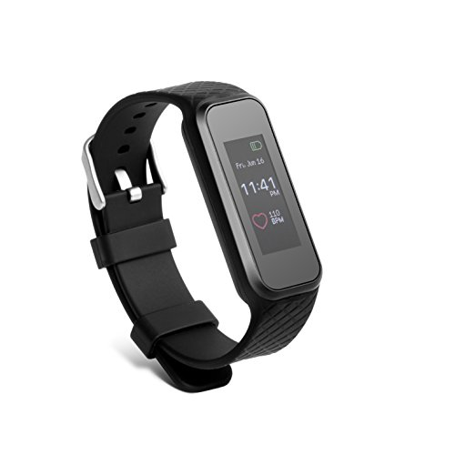 Technaxx Fitness Armband Heart Rate TX-81 mit Touch-Display Überwachung von Puls, Fitness, Schlafphasen Erinnerungen, Anrufe, SMS, E-Mail,Smart Fitness Tracker Herzfrequenzmesser Aktivitätstracker