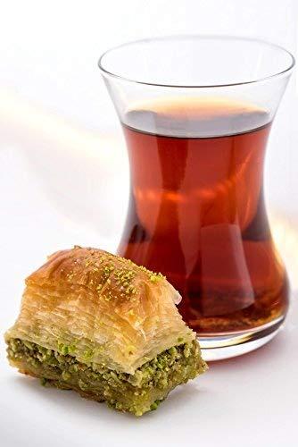 Turco Juego de té, té Vidrio, Taza de té, ajda, 6vasos, por Topkapi