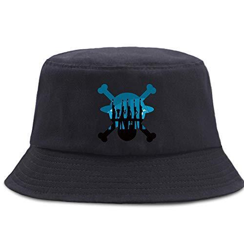 ZHENQIUFA Sombrero Pescador Gorras Sombrero De Pescador Gorros Casuales Unisex Sombreros De Cubo Plegables Gorra De Pesca Al Aire Libre-Negro6_56-58Cm