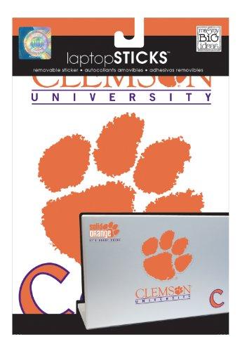 me & my BIG ideas laptopSTICKS Removable Laptop Stickers, Clemson Tigers
