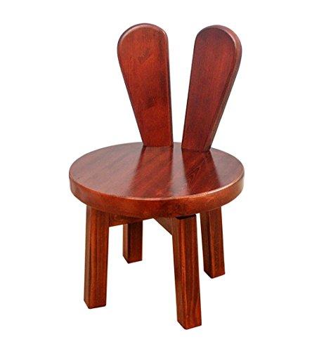 LJHA Tabouret pliable Bois massif Créatif Peut être tourné Tabouret Salon simple Dossier Tabouret pour enfant ménager chaise patchwork