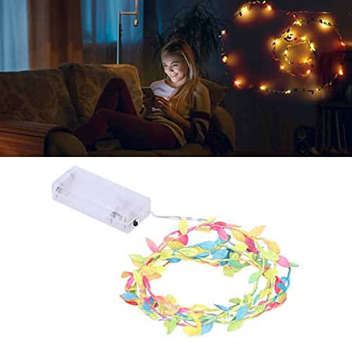 WNSC Decoración de luz LED, Forma de Hojas de Colores de Cadena de luz LED para Bodas para Fiestas para Dormitorio para Navidad