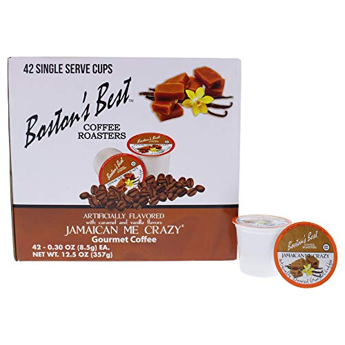 Boston's Best Coffee Roasters - Jamaican Me Crazy - Medium Roast 100% Arabica Coffee - 42 Single Serve Keurig-Compatible K-Cup Pods