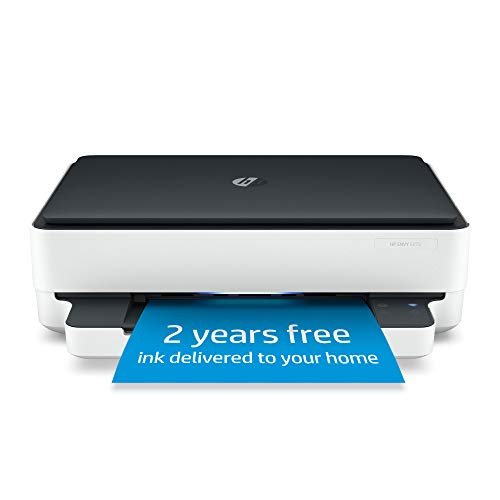 HP Envy 6075 Wireless All-in-One Printer, Includes 2 Years of Ink Delivered, Mobile Print, Scan & Copy, Compatible with Alexa (8QQ97A)