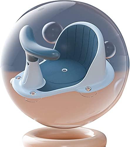 Bebés Asiento De Baño, con Ventosas, Asiento De Baño para El Interior De La Bañera - para Bebés De 6 A 18 Meses (14 Kg),Azul,One Size