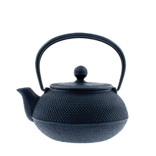 Iwachu Japanese Iron Tetsubin Teapot, Hobnail, Black