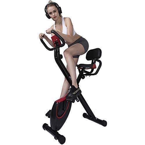 Keumer Multifuncional Bicicleta Estática Control Magnético Silencioso Interior Plegable Entrenador Doméstico-Sistema De Banda De Resistencia De Patente-Sensor De Pulso De Mano-ergómetro