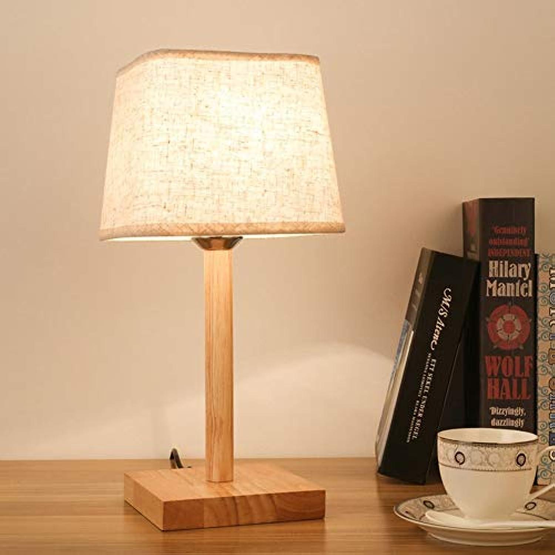 Holz Material Schreibtischlampe Einfache Moderne Tischlampen Schlafzimmer Studie Wohnzimmer Dekoration Lampe Plug-in Nachtbeleuchtung (Design   Q)