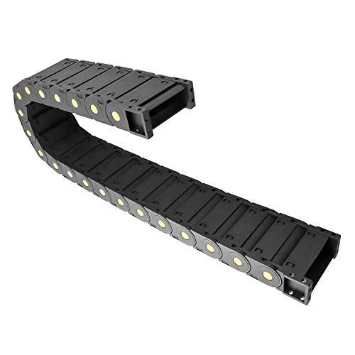 QWORK Schleppkette , R55 , 25mm x 77mm für 3D-Drucker, CNC-Werkzeugmaschinen, elektronische Geräte Schwarz 1M