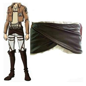 Cosplay Attack on Titan Shingeki no Kyojin Leather Skirt Hookshot Costume  S