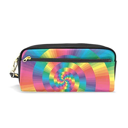 Mnsruu Trousse, Rainbow spirale Grande capacité Pen Sac Maquillage Outil Sac avec compartiments pour filles garçons