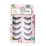 LANKIZ False Eyelashes 3D Fake Lashes Handmade Reusable Natural Strip Lashes Fluffy 5 Pairs