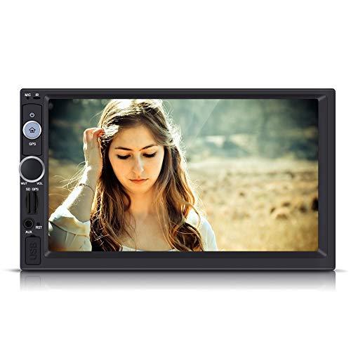 Fydun 7 Pulgadas 2 DIN HD Pantalla táctil Bluetooth GPS Car Stereo Radio FM/USB/AUX/MP5 Player Multimedia