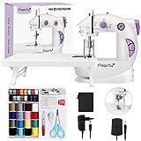Magicfly Mini Máquina de Coser Para Principiantes, Máquina de coser Portátil de Doble Velocidad con Mesa de Extensión, luz, kit de Costura Para el Hogar Viajes