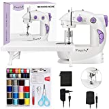 Magicfly Mini Máquina de Coser Para Principiantes, Máquina de coser Portátil de Doble Velocidad con Mesa de...