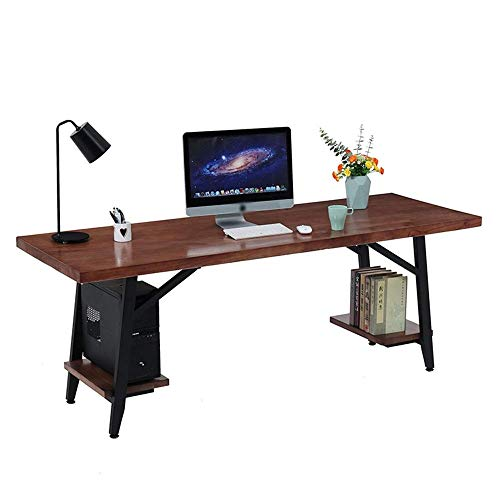 Accesorios de decoración Escritorio de oficina de madera Escritorio de computadora de escritorio de madera maciza Compañía Escritorio de estudiante creativo Estación de trabajo para oficina en casa