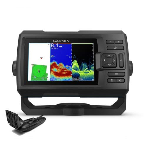 Sonda GPS Garmin Striker Vivid 5CV GPS Integrado Mapas Quickdraw Contours/ Sonda CHIRP Clearvü con Transductor GT20-TM