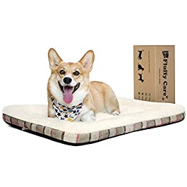 Fluffy Care Dog Bed Dog Crate Mattress Mat Cat Bed Blanket Dog Pillow Cozy Dog Cage Kennel Washable Pet Bed Cushion for Small Medium Large Dogs and Cats