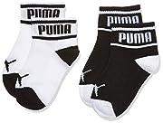 PUMA Baby-Jungen Wording 2p Socken, Schwarz (Black/White 213), One Size (Herstellergröße: 15/18) (2er Pack)