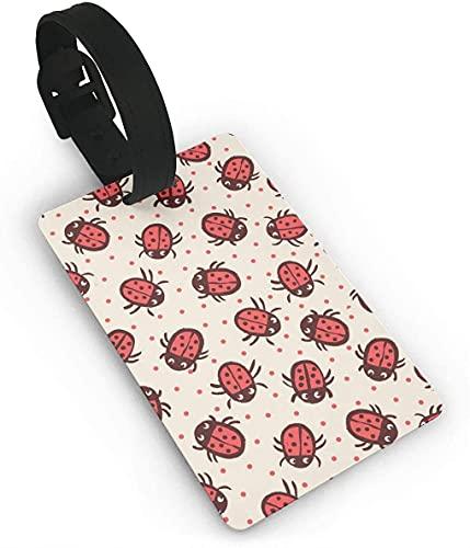 Ladybug Cartoon Red Art Funny Themed Impreso Rolling Airplane Lage etiqueta identificador de maleta de viaje, etiquetas duraderas para mujeres, hombres, niños y equipajes