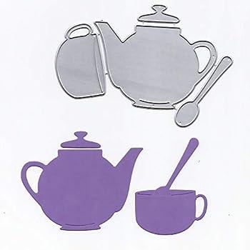 Teapot Cup Spoon Metal Dies for Scrapbooking Card Making Paper Crafts Embossing Cutting Dies