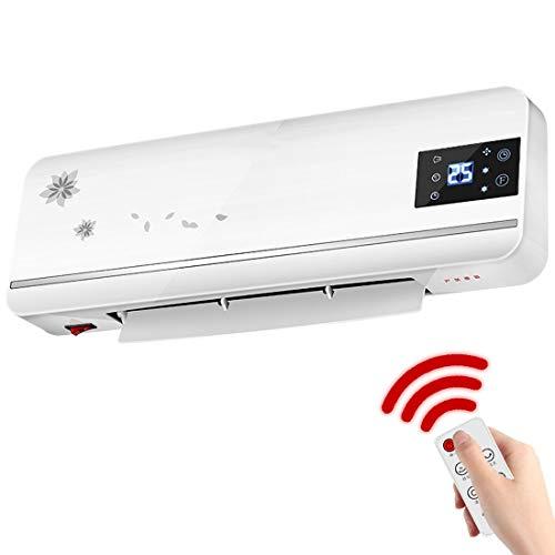 PTC ventilatorkachel met afstandsbediening, tijdregeling, badkamerverwarming, wandmontage, voor badkamer, elektrische kachel van keramiek