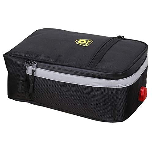 COOFIT Fahrrad-Kofferraumtasche Große Kapazität Fahrrad-Rücksitz-Tasche Fahrrad-Koffer mit Licht