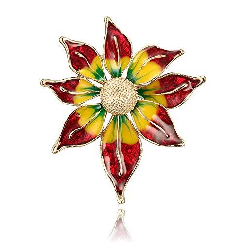 KEKE Bunte Blumen-Legierung farbige Glasur-Brosche hochwertige Bekleidungszubehör-Blume Corsage, Geburtstags-Geschenk-Schmuck