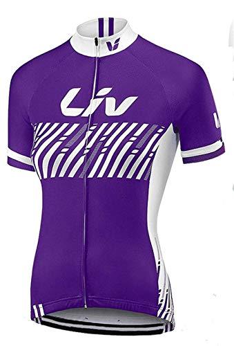 CQOQ Mujeres En Verano Ciclismo Jersey Breathale Montaña Ropa Bicicleta De Carreras De Secado Rápido Ropa MTB De La Bicicleta Uniforme Ropa De Ciclo (Color : 3, Size : Medium)