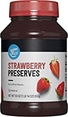 This product was previously a Solimo product. Now it's part of the Happy Belly brand, the product is exactly the same size and quality One 30 ounce jar of strawberry preserves A perfect addition to your favorite recipes or served on top of toast, waf...