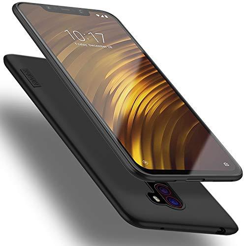 X-level Funda para Xiaomi Pocophone F1, Carcasa para Xiaomi Pocophone F1 Suave TPU Gel Silicona Ultra Fina Anti-Arañazos y Protección a Bordes Funda Phone Case para Pocophone F1 - Negro