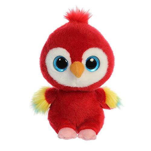 YooHoo 61117 Lora - Guacamayo de Peluche (8 Pulgadas), Color Rojo
