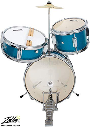 Mendini by Cecilio 13 inch 3-Piece Kids/Junior Drum Set with Throne, Cymbal,...