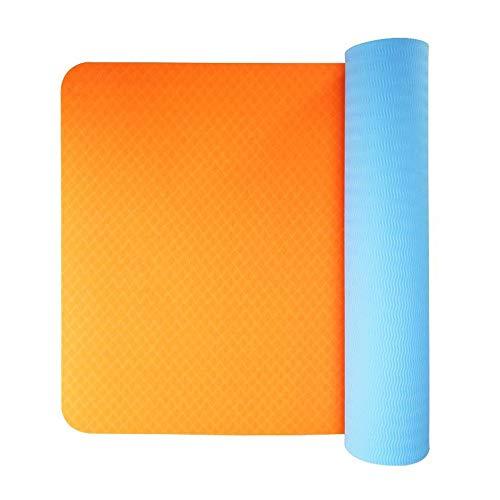 Tappetino yoga Antiscivolo Yoga Mat TPE di protezione dell'ambiente Sport Mat 6 mm di spessore ad alta densità leggera Pilates Mat adatto a 185x65cm Corpo Libero Fitness Tappetino per esercizi fitness