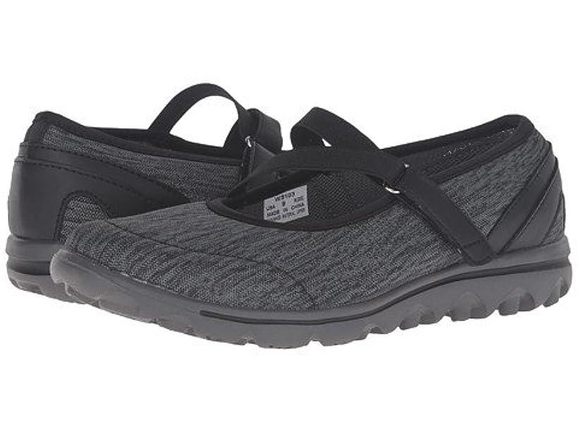 暴徒定規サイト(プロペット)Propet レディースウォーキングシューズ?カジュアルスニーカー?靴 TravelActiv Mary Jane Black/Grey Heather 7.5 24.5cm X (2E) [並行輸入品]