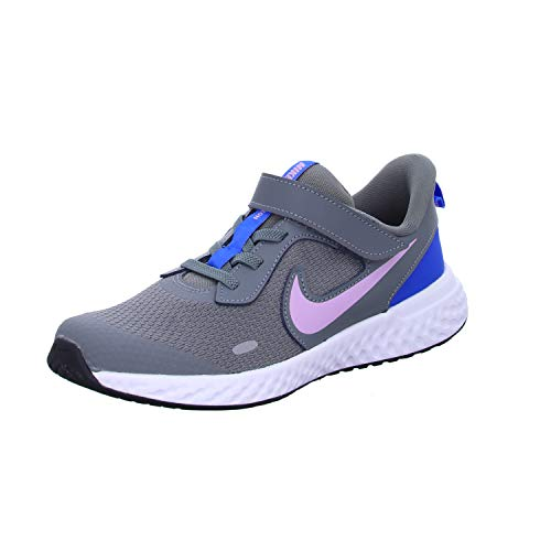 Nike Revolution 5 (PSV), Scarpe da Corsa Unisex-Bambini, Smoke Grey/Iced Lilac/White/Soar, 34 EU