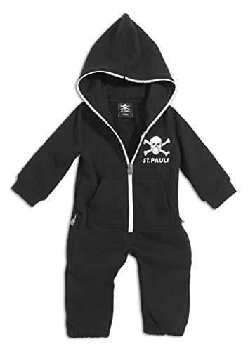 FC St. Pauli Totenkopf Onesie Overall Jumpsuit (6 Monate, schwarz)