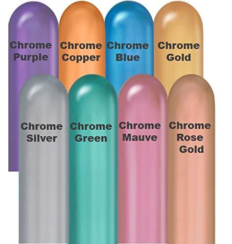 New Qalatex 260Q Chrome 8 Color Assortment (50 ct)