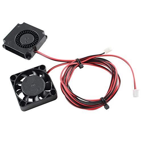Wnuanjun 1 stück 4010 Fans DC 24V Extruder Hot End Lüfter und DC 24V Turbo-Lüfter für Creality Ender 3 / für Ender 3 Pro 3D-Drucker (Farbe : Schwarz)
