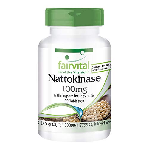Nattokinase 100mg - 2000 FU - VEGANA - Dosis elevada - 90 Comprimidos - Calidad Alemana