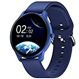 Smart Watch for Android iOS Phones Compatible with iPhone Samsung, CUBOT W03 IP68 Waterproof Fitness Tracker Smartwatch for Men Women Heart Rate Monitor Pedometer Sleep Monitor(Blue)