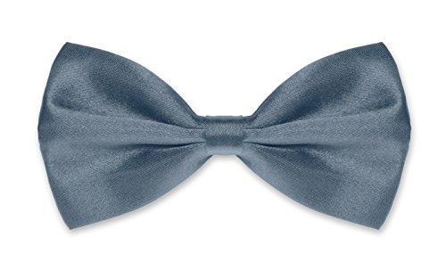 Autiga Autiga ® Fliege Herren Hochzeit Konfirmation Anzug Smoking Schleife Schlips verstellbar schiefergrau