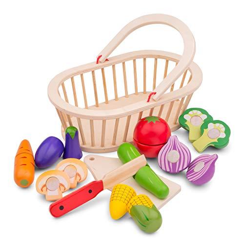 New Classic Toys- Panier de Légumes, 10589, Multicolore Color
