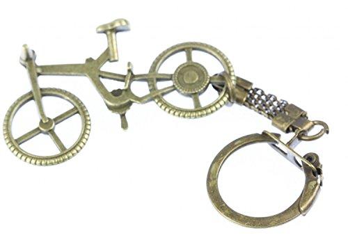 Miniblings Key Chain Biciclette Bronzo Ruota del rimorchio Portachiavi Bici
