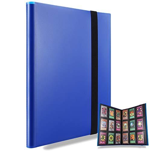 MUROAD Classeur pour cartes à collectionner, Porte cartes rangements pour 360 cartes, Compatible avec pokemon cartes (Bleu)